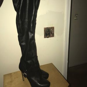 Over the knee dress boots